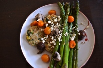 Quinoa Patties with Roasted Asparagus