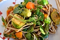 Soba Noodles with Watercress