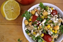Orzo Salad with Chickpeas, Tomatoes and Corn
